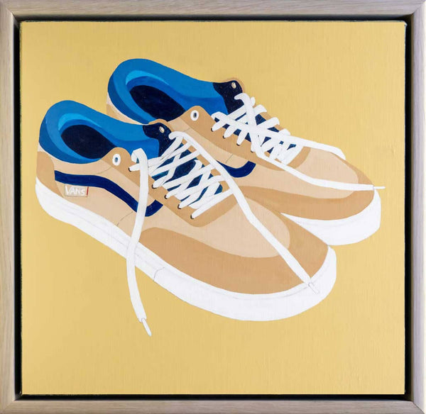 Shoes, after Vincent (or, Vincent's Vans), Acrylic Painting by Steve Munro Artist