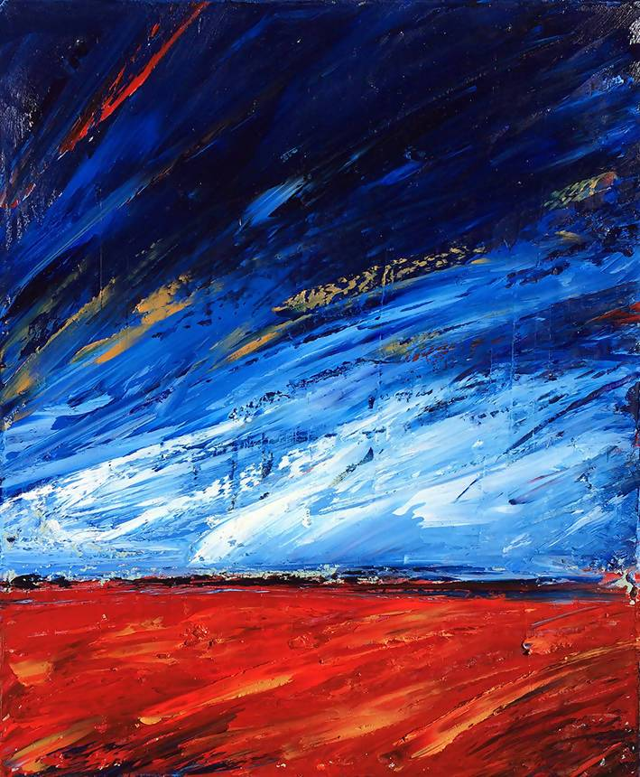 Outback Sky, Oil Painting by David Clare Artist