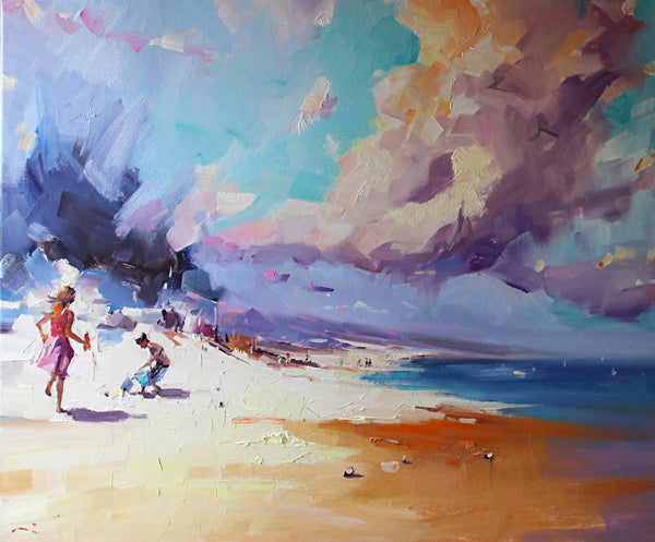 Approaching Storm (framed), Oil Painting by Li Zhou Artist