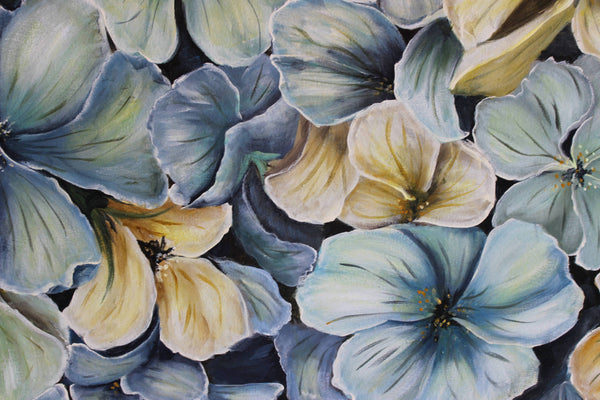 Shades of Blue, Acrylic Painting by Kathryn Deboer Ipsen Artist