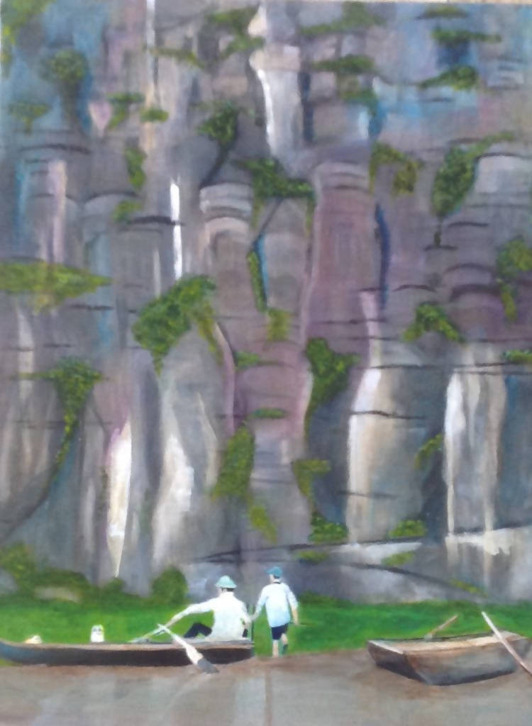Tam Coc - Vietnam, Acrylic Painting by Kathy Best Artist