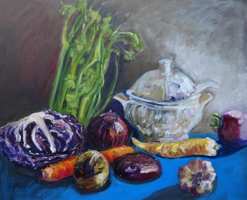 FINCK SOUP, Oil Painting by maureen finck Artist