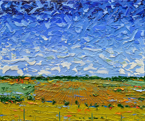 Fieldscape No.5, Acrylic Painting by Joseph Villanueva Artist