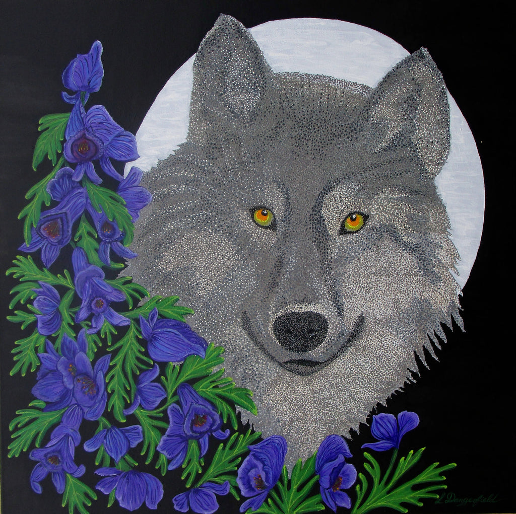 Wolfsbane, Acrylic Painting by Lisa Dangerfield Artist