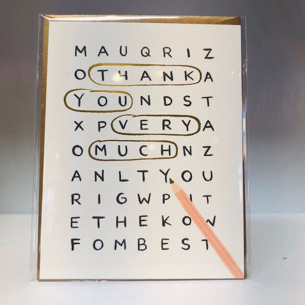 Word Search Greeting Card