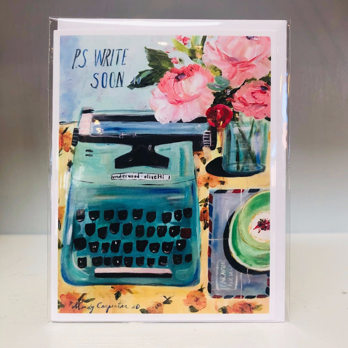 P.S. Write Soon Greeting Card