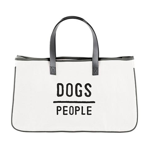 Dogs/People Canvas Tote Bag
