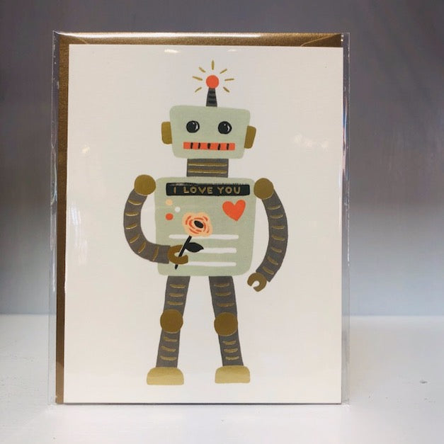 Love Robot Greeting Card