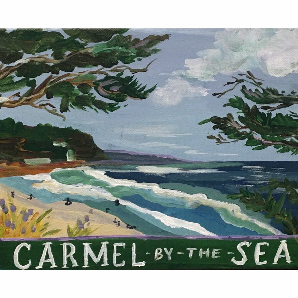 """Carmel Postcard"" painting by Mindy Carpenter"