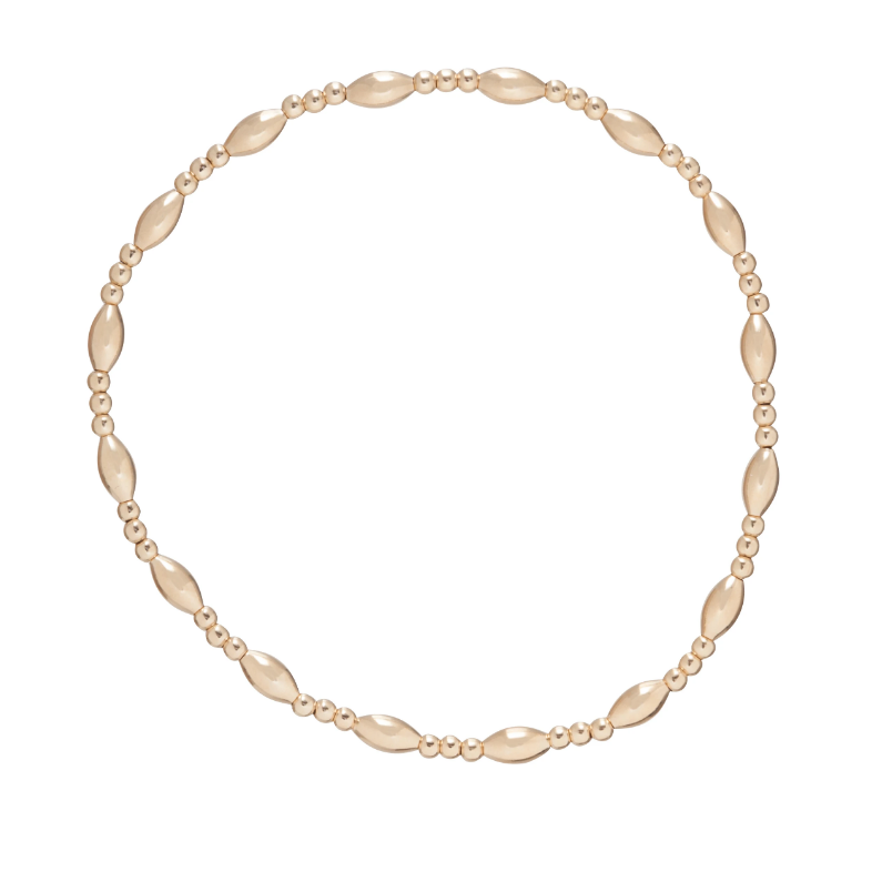 Harmony Sincerity Pattern 2mm Gold Bead Bracelet