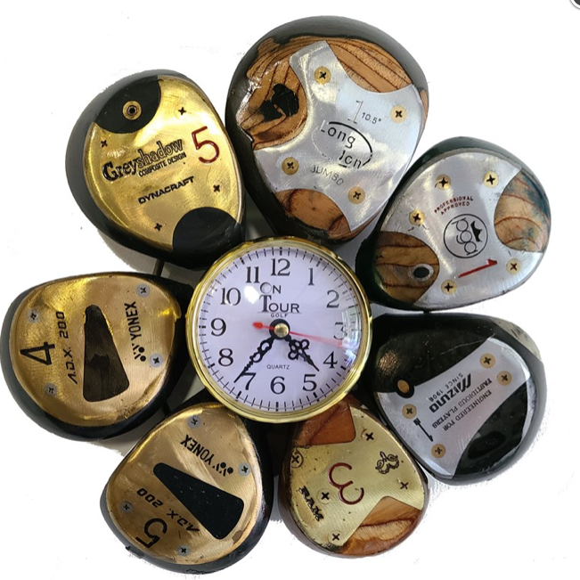 Woods Golf Clock