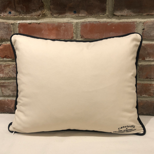 Ohio State University Embroidered Pillow