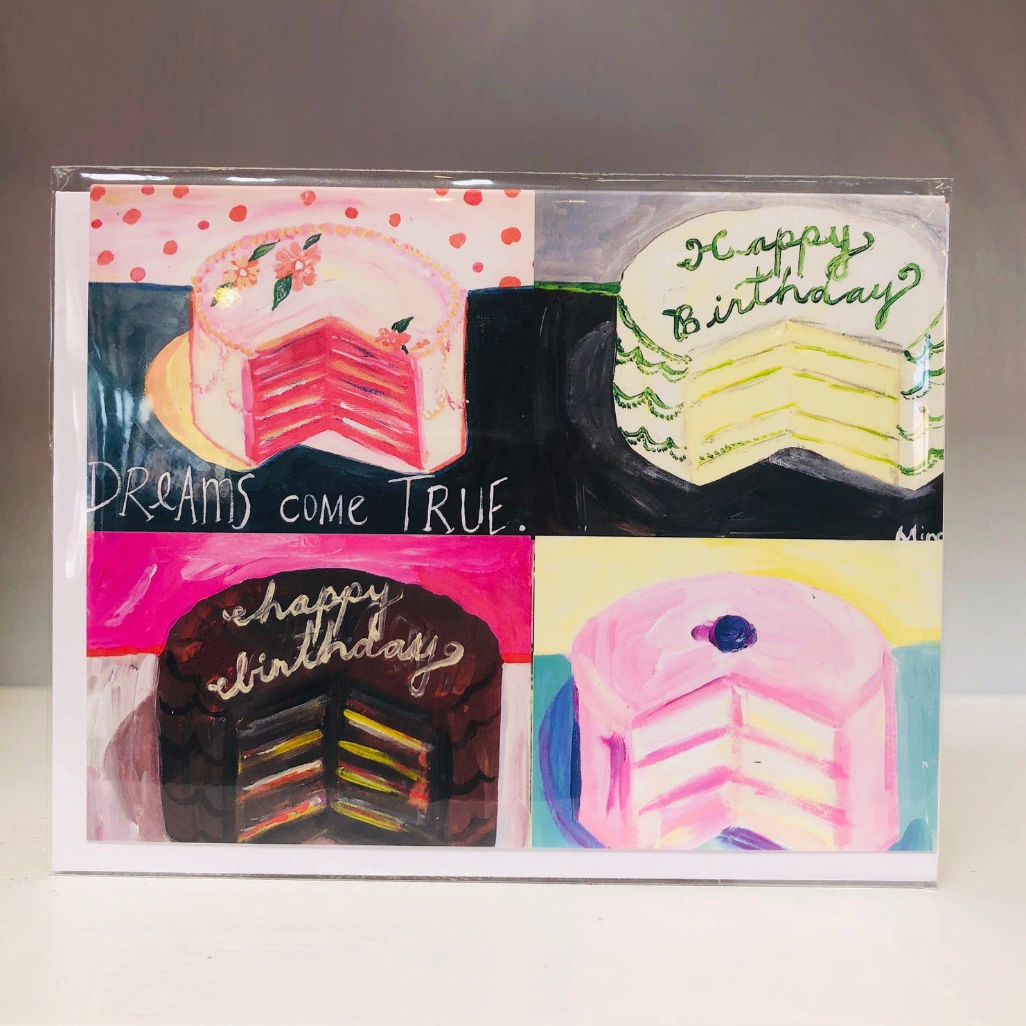 Four Cakes Greeting Card