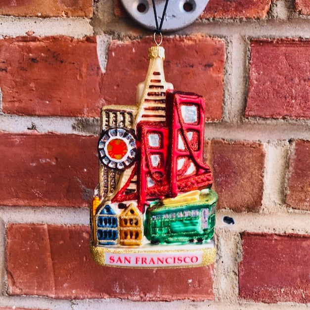 San Francisco Landscape Christmas Ornament