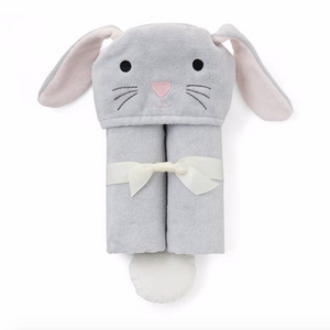 Bunny Hooded Baby Bath Wrap