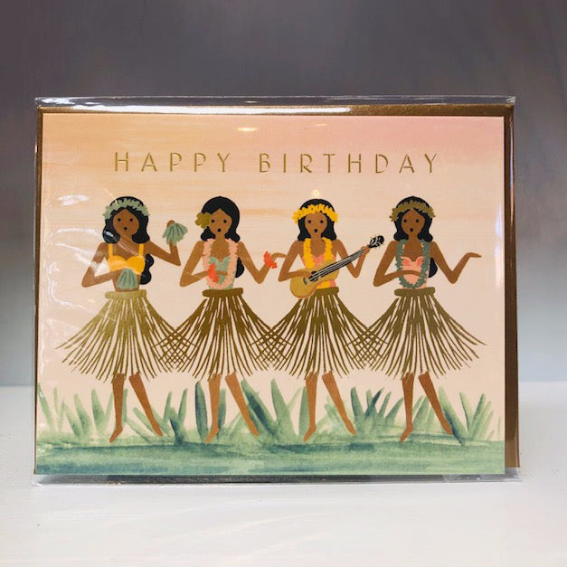 Hula Greeting Card