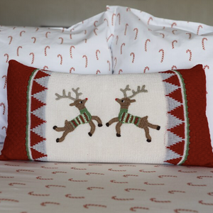 Two Reindeer Pillow