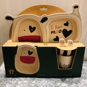 """Clarabelle the Cow"" Eating Set"