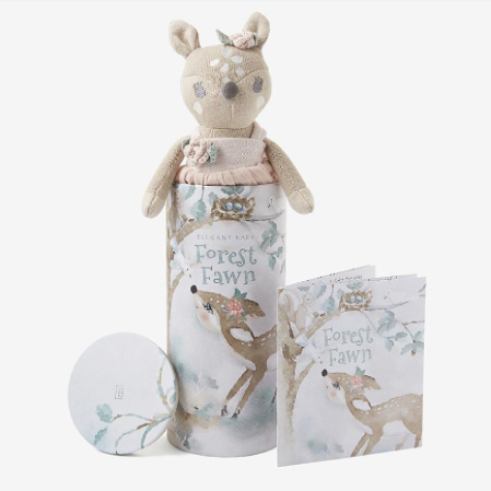 Fifi Fawn Baby Knit Toy with Gift Box