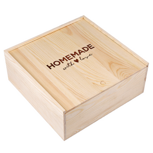 """Homemade with Love"" Sweets Wood Box"