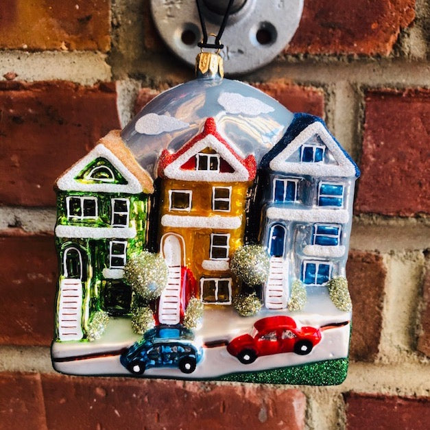 Painted Ladies Christmas Ornament