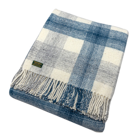 Meadow Ink Check Throw