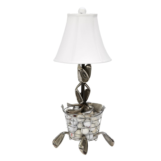 """Bucket of Balls""  Golf Table Lamp"