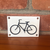 Bicycle Logo Cast Iron Sign