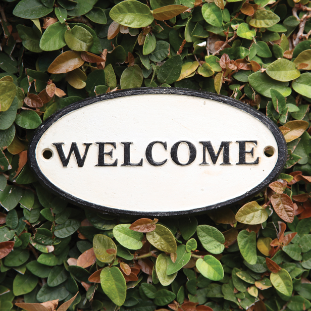 """WELCOME"" Cast Iron Sign"