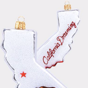 California State Outline Christmas Ornament
