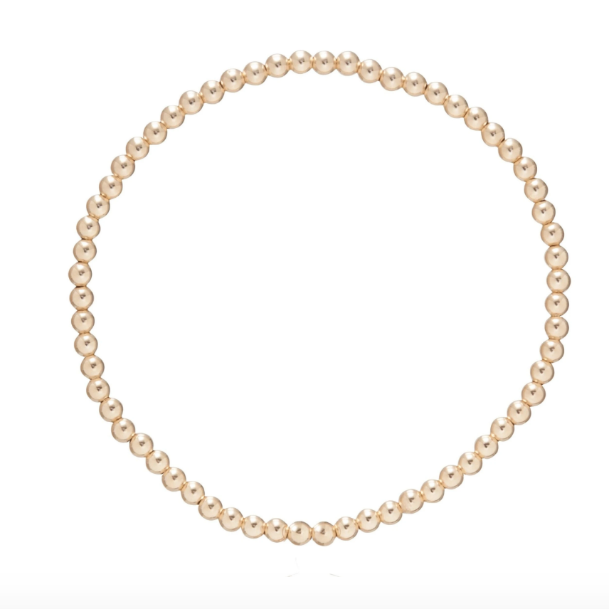 Classic Gold 3mm Bead Bracelet