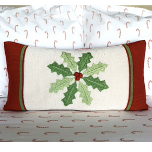 Holly Pinwheel Pillow
