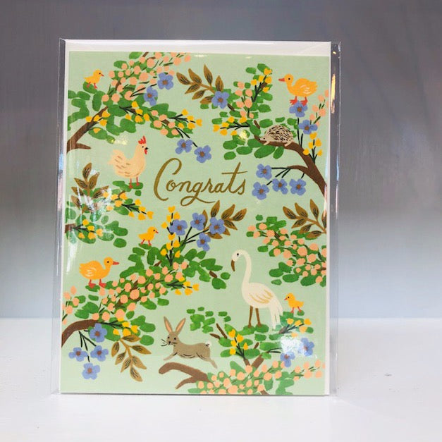 Forest Congrats Greeting Card
