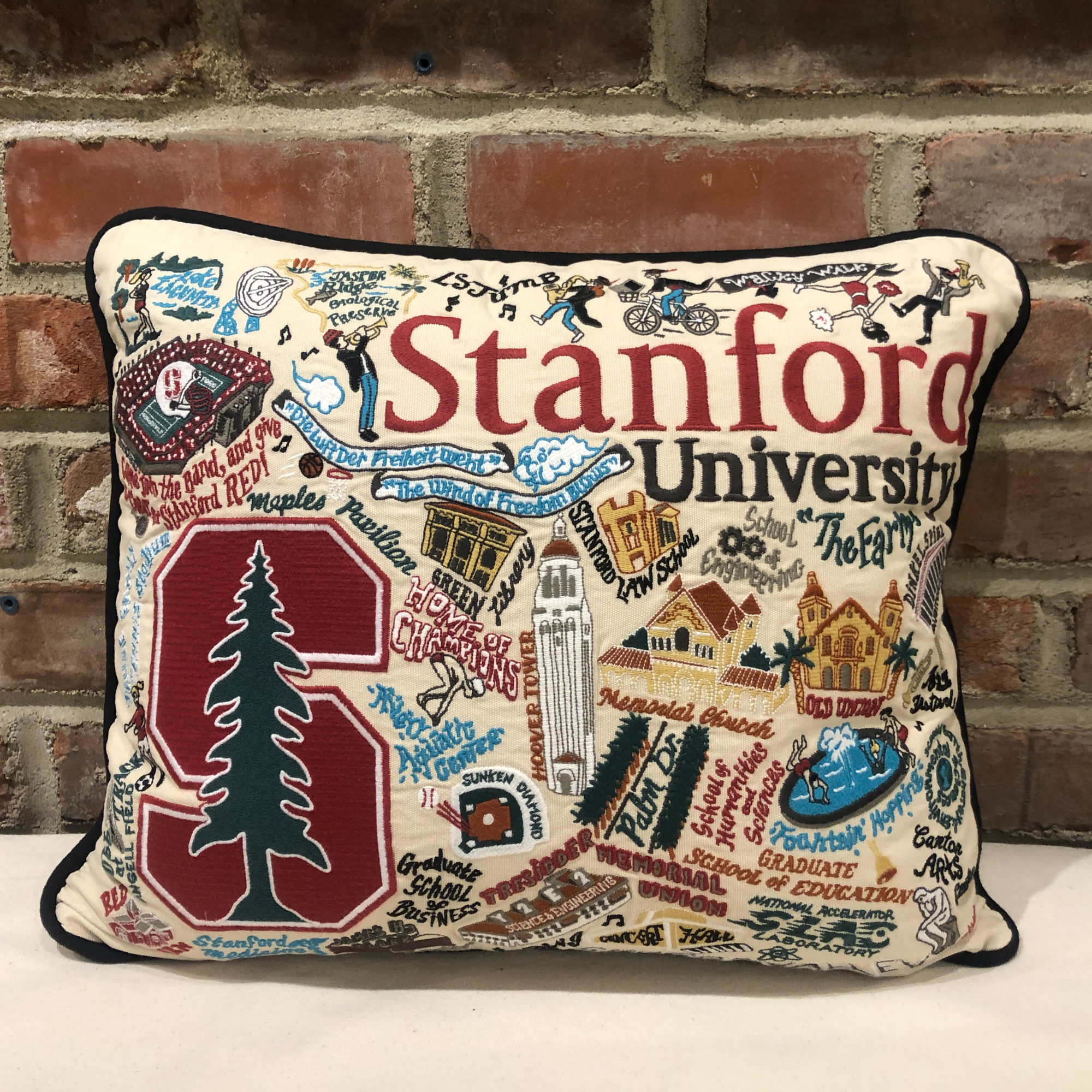 Stanford University Embroidered Pillow