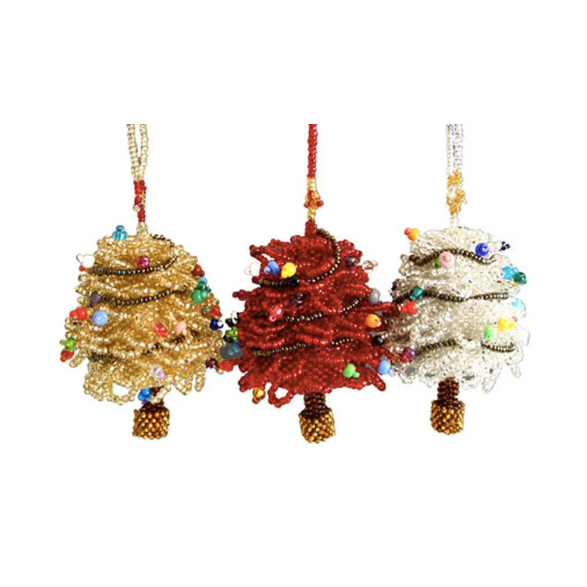 Beaded Christmas Tree Ornament, multiple options available