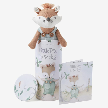 Felix the Fox Baby Knit Toy with Gift Box