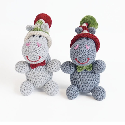 Hippos in Hats Ornament, multiple options available