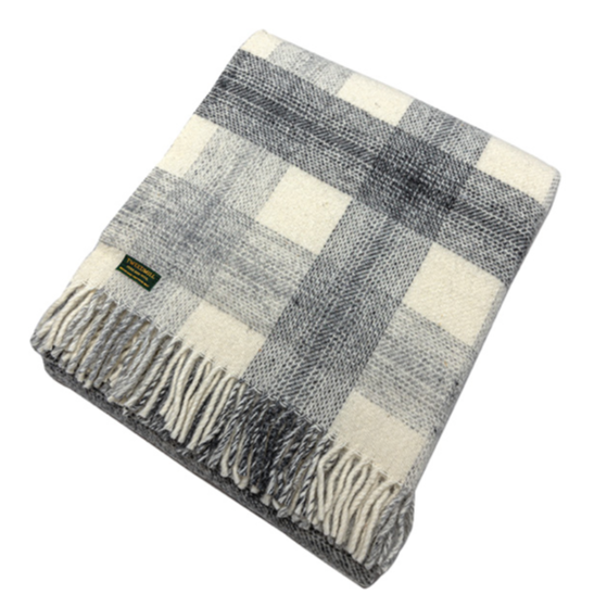 Meadow Slate Check Throw