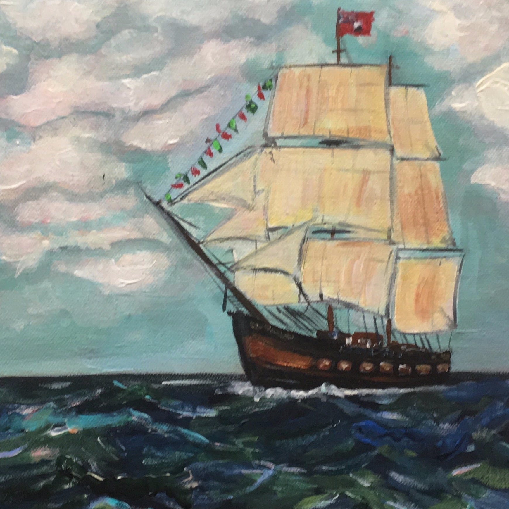 """Tall Ship"" painting by Mindy Carpenter"