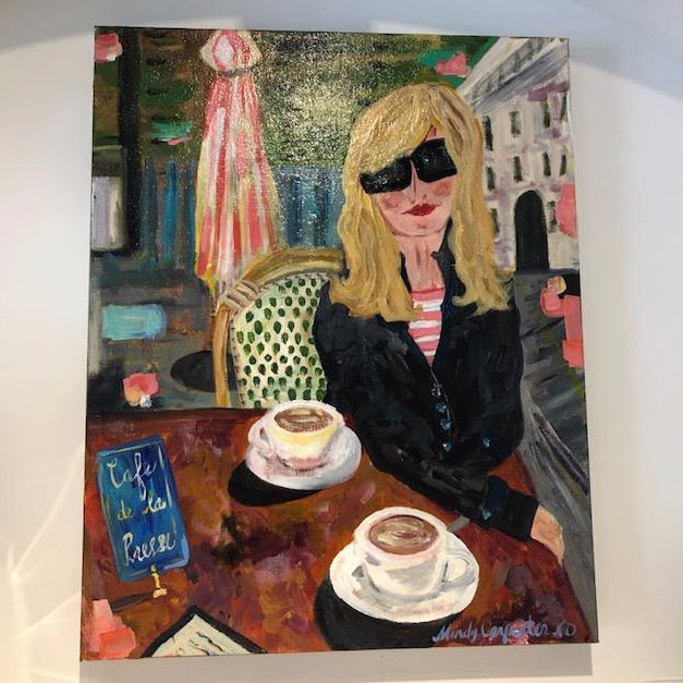 """Cafe Life"" painting by Mindy Carpenter"