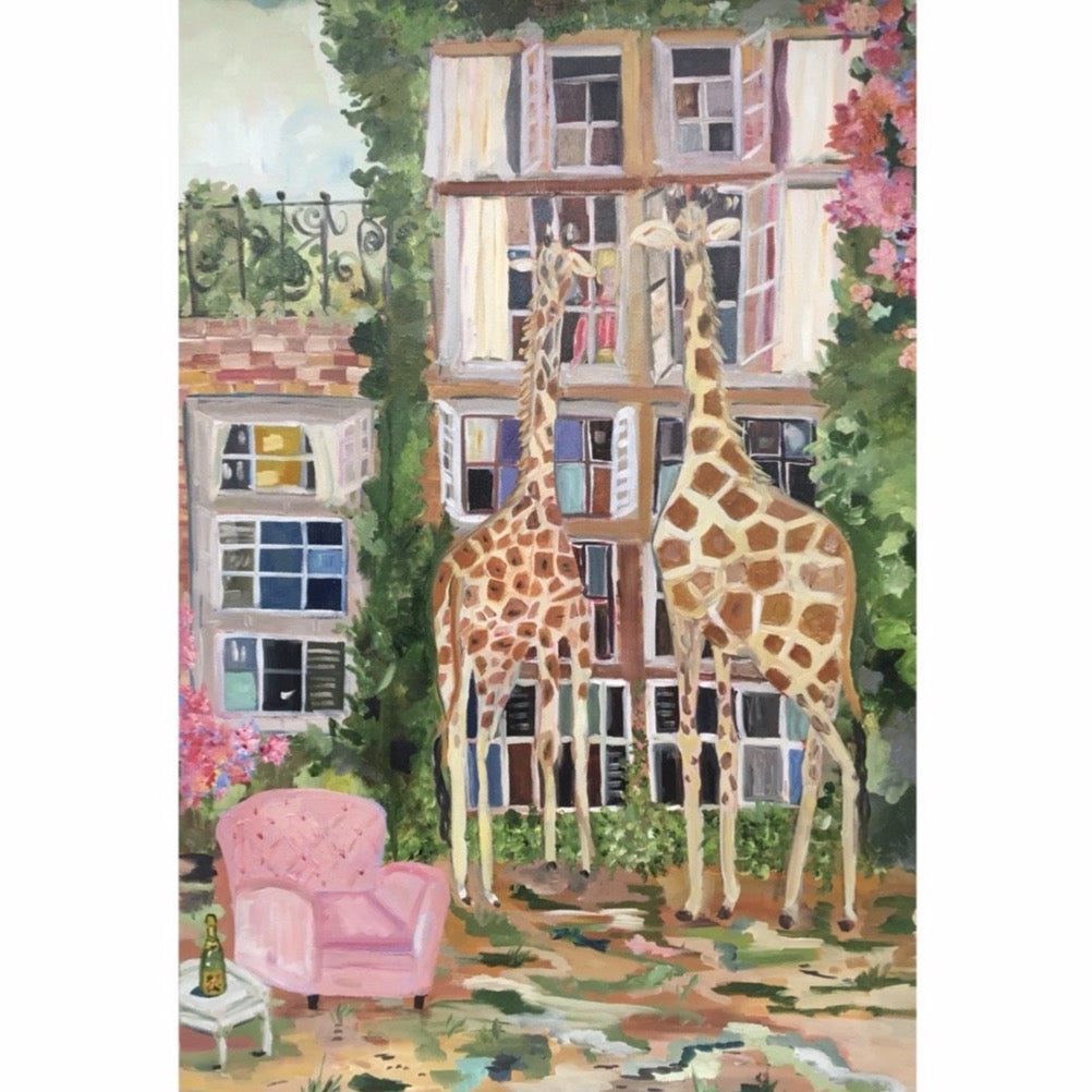 """Giraffe Manor"" painting by Mindy Carpenter"