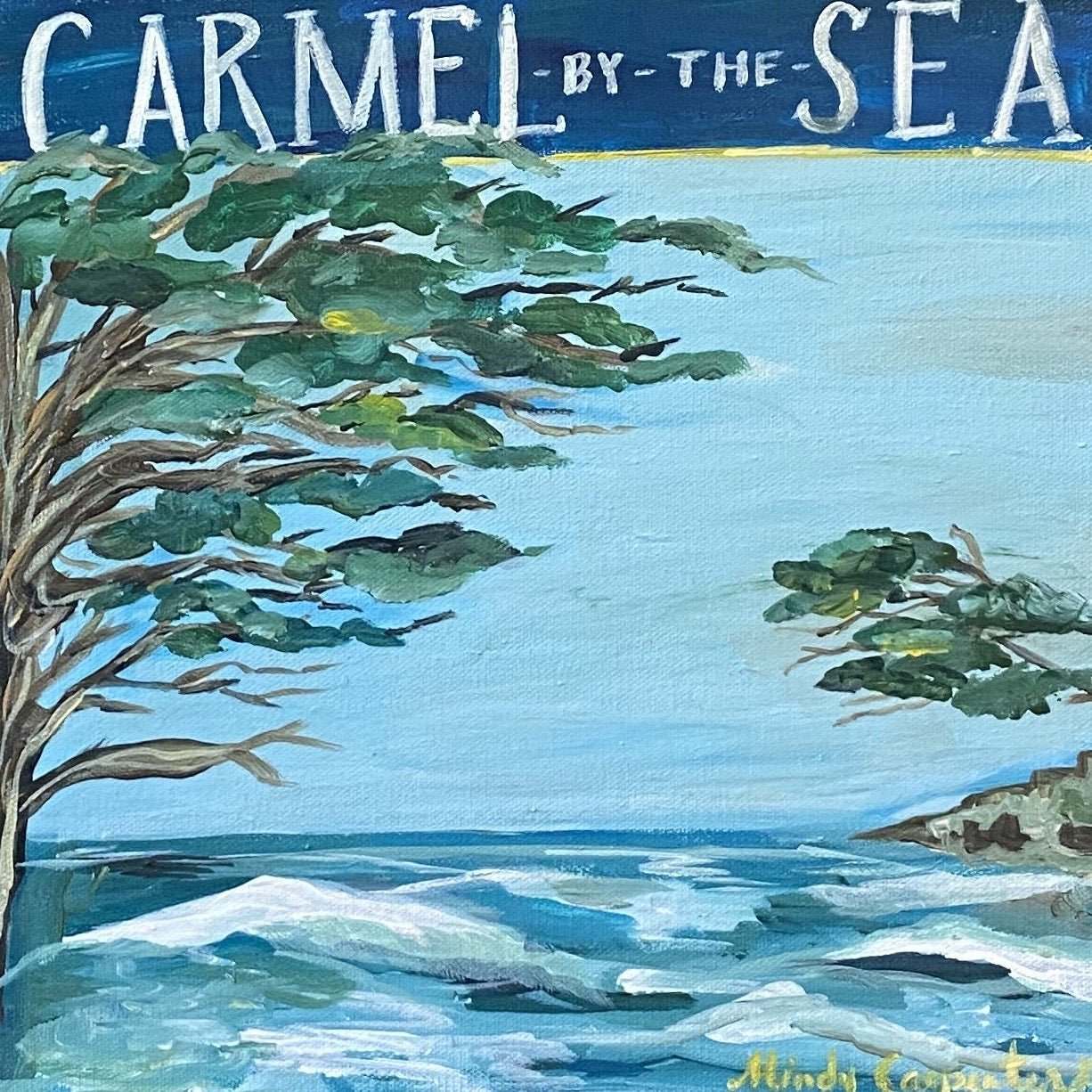 """Carmel Waves"" painting by Mindy Carpenter"