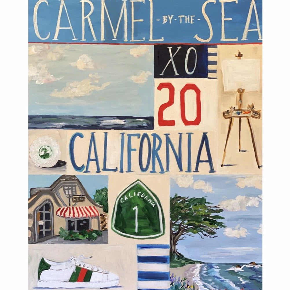 """Carmel in Blue"" painting by Mindy Carpenter"