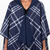 RAINRAP Navy & Navy Plaid, Hooded