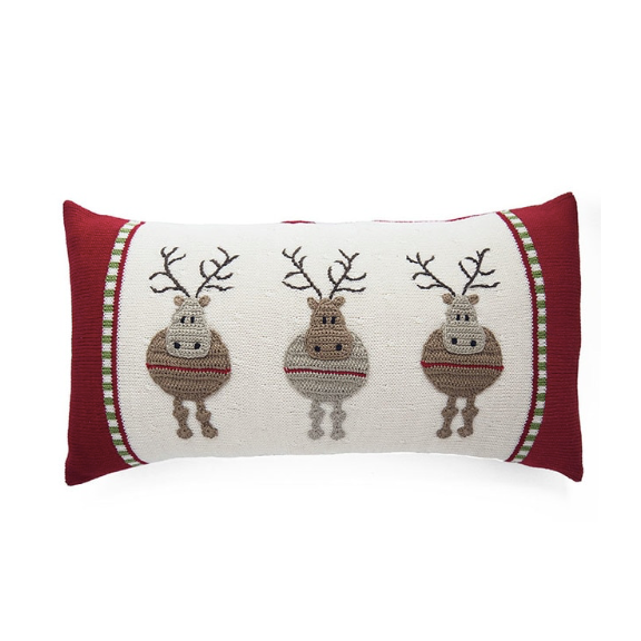 Three Reindeer Pillow