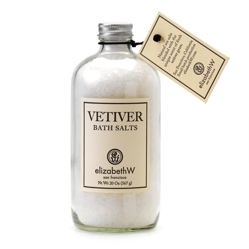Bottle of elizabethW Bath Salts in Bottle Vetiver