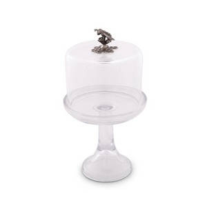 Honey Bee Cheese/Desert Stand on Glass Pedestal