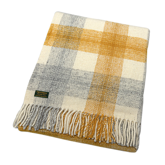 Meadow Yellow Check Throw