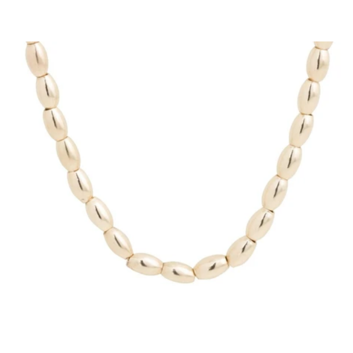 Harmony Small Gold Bead Choker 15""