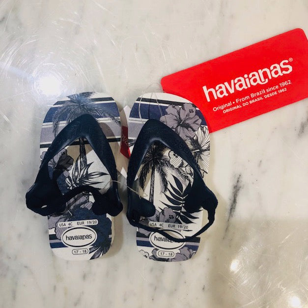 Navy Tropical Havaianas, Baby Chic